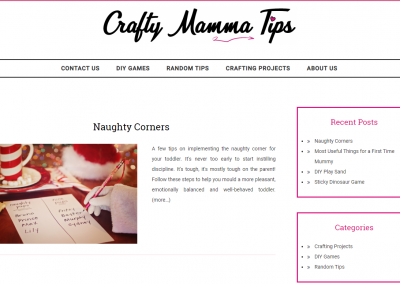 Crafty Mamma Tips – How to Entertain a Toddler